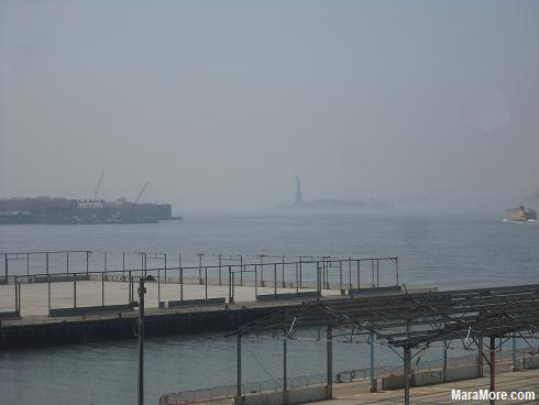 Statue of Liberty from Brooklyn Heights, NYC